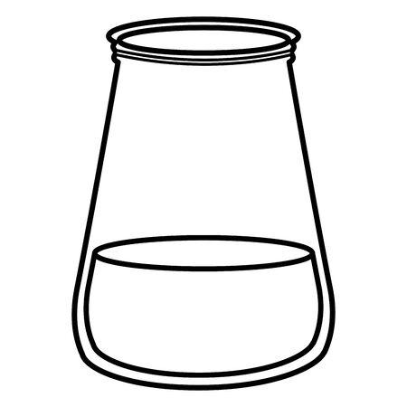 jar glass with liquid Standard-Bild - 129463488