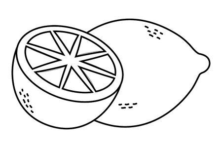 delicious tasty lemon cartoon