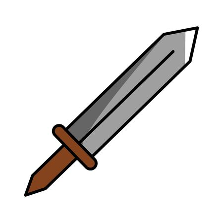 Isolated medieval sword design vector illustration