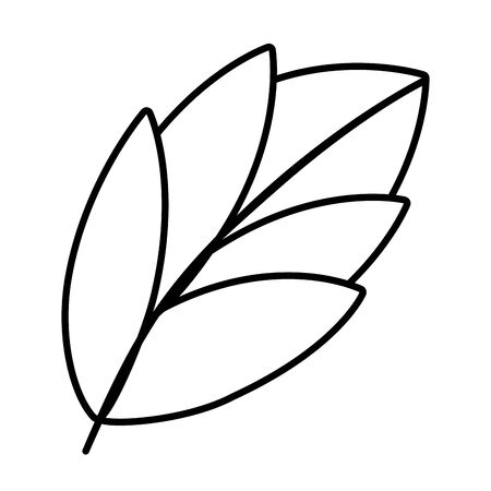 nature leaf cartoon Banque d'images - 129578546