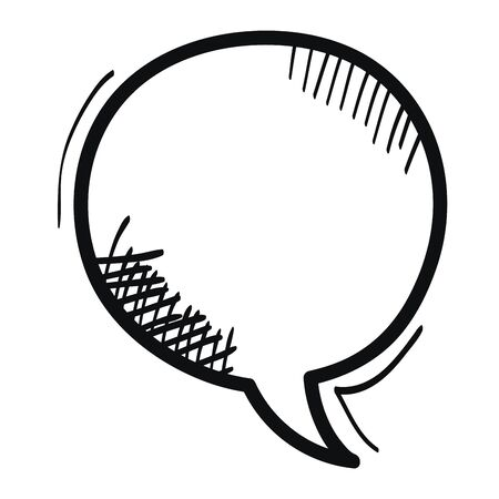 speech bubble message drawing Banque d'images - 129578569