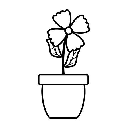 flowers garden in ceramic pot decoration