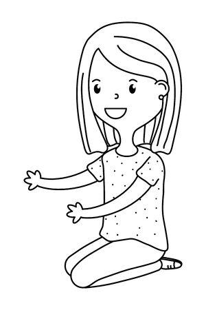 childhood happy child cartoon Banque d'images - 129578446