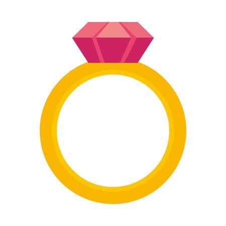 Isolated ring design Illusztráció