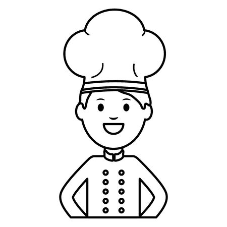 young chef avatar character vector illustration design Ilustracja
