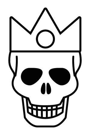 Isolated skull head design vector illustration Stockfoto - 129473497