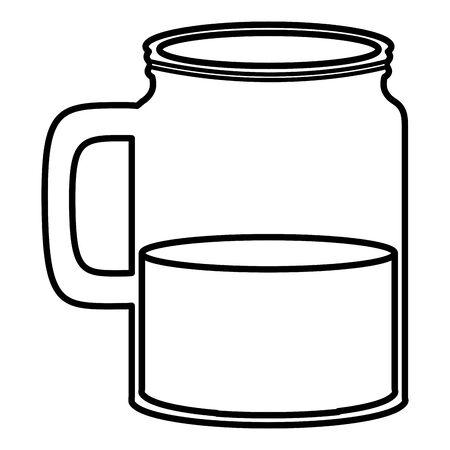 jar glass with liquid Ilustração