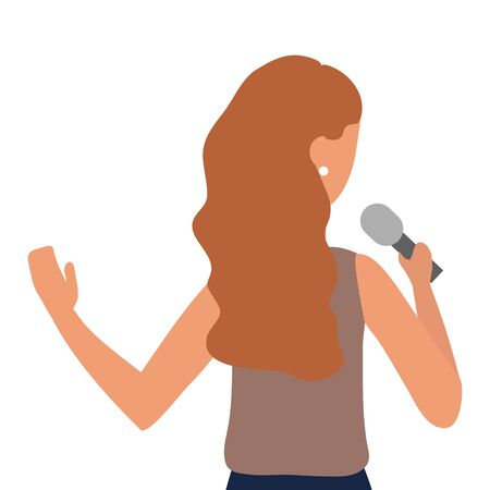 Woman with microphone design