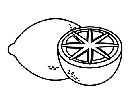delicious tasty lemon cartoon Banque d'images - 129473535