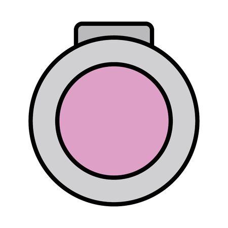 blush make up drawing icon Illusztráció