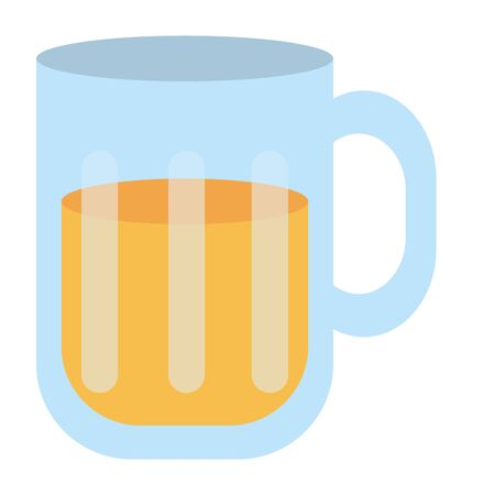 Isolated glass of beer design  イラスト・ベクター素材