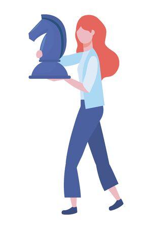Businesswoman avatar cartoon design vector illustration  イラスト・ベクター素材