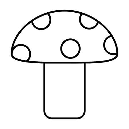 Isolated pointed fungi mushroom design vector illustration Иллюстрация