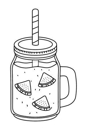 tasty refresh drink cartoon Banque d'images - 129473751