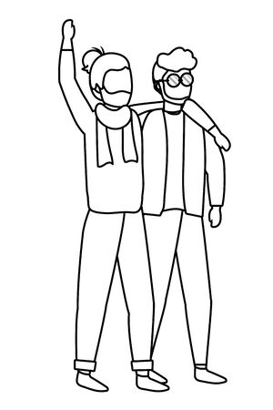 human men cartoon Фото со стока - 129473904