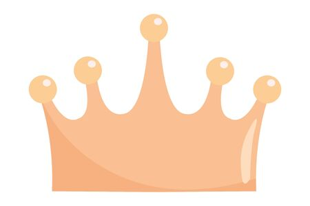 Isolated royal crown design vector illustration Ilustrace