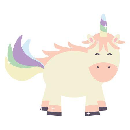 cute adorable unicorn fairy character Ilustrace