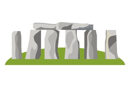 Stonehenge england landmark design vector illustration