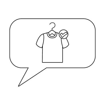 Tshirt inside bubble design vector illustration