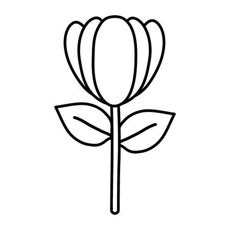 rose flower garden nature icon