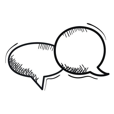 speech bubbles messages drawing