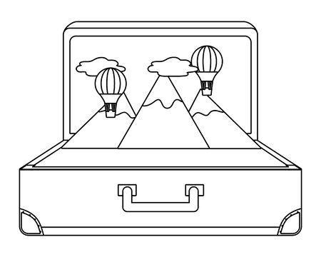 Suitcase and travel design Stock Illustratie