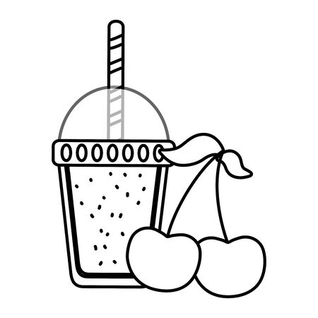 delicious tasty fruit and drink cartoon Banque d'images - 129474418