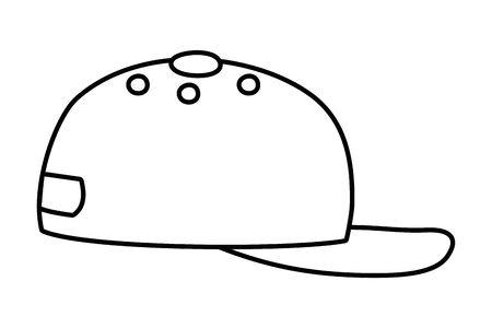 Isolated hat design vector illustration  イラスト・ベクター素材