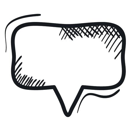 speech bubble message drawing  イラスト・ベクター素材