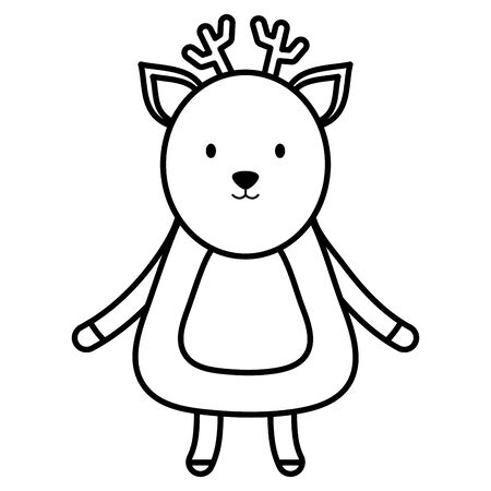 cute reindeer childish character