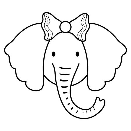 cute female elephant childish character