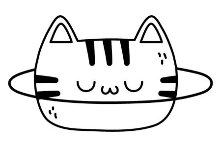 Cat cartoon design, Kawaii expression cute character funny and emoticon theme Vector illustration Иллюстрация