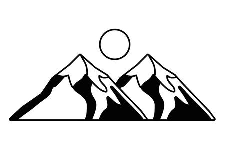 Isolated iceberg mountain design vector illustration Ilustração