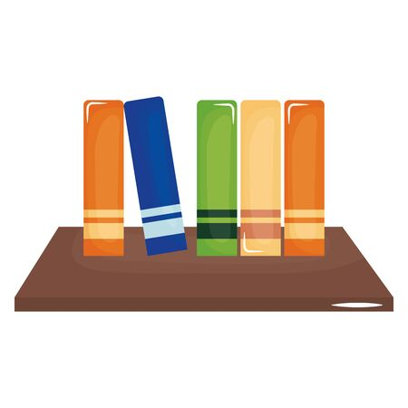 schooldesk wooden with pile books