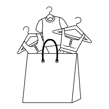 Shopping bag icon Stock Illustratie