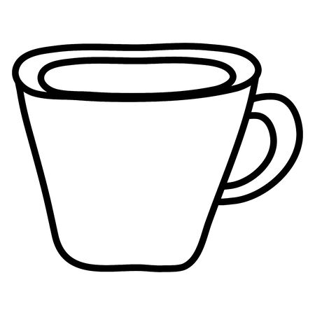 coffee cup drink isolated icon Ilustracja