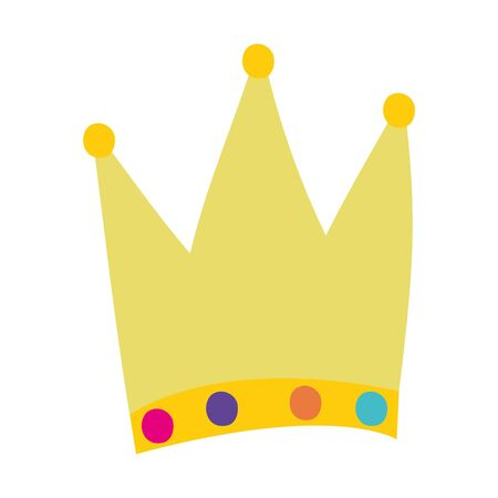 Isolated royal crown design