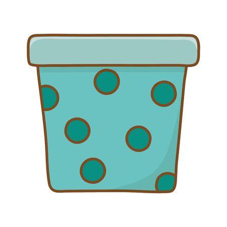 flowerpot icon cartoon