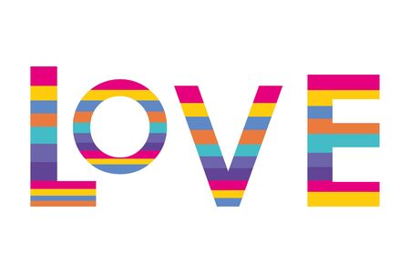 Isolated lgbt love design