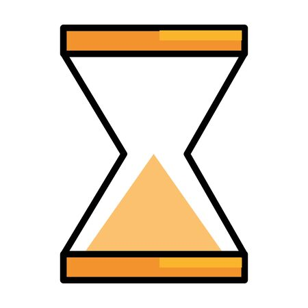 Isolated sand hourglass icon design vector illustration