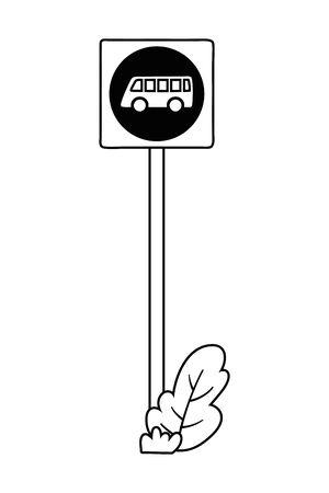 Bus stop road sign design