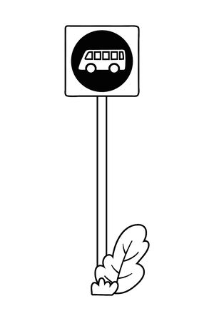 Bus stop road sign design