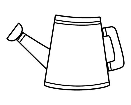 Isolated watering can vector design