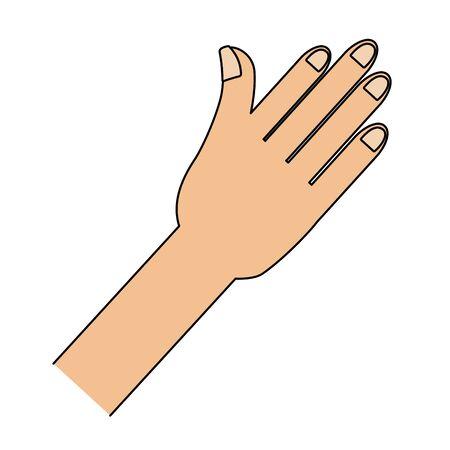 human hand cartoon Çizim