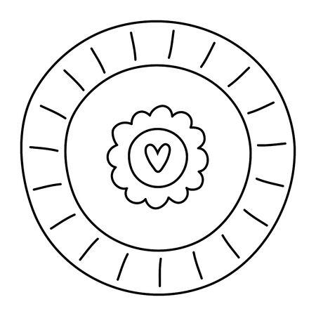 Isolated flower ornament design