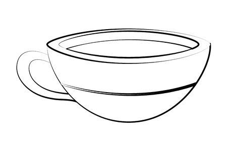 porcelain coffee mug cartoon Illusztráció