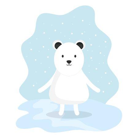 cute bear polar adorable character Zdjęcie Seryjne - 132611148