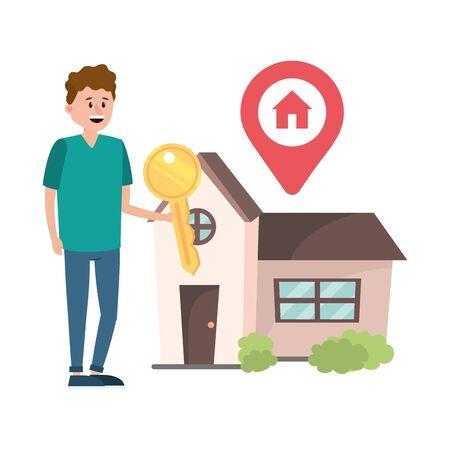 real estate man cartoon