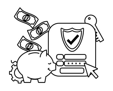 saving money cartoon Фото со стока - 132103034