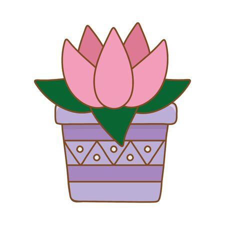 blossom in pot icon cartoon vector illustration graphic design